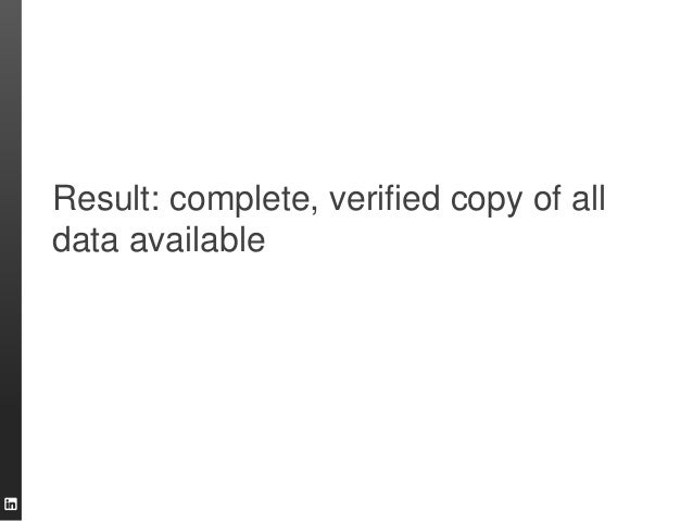 Result: complete, verified copy of all data available