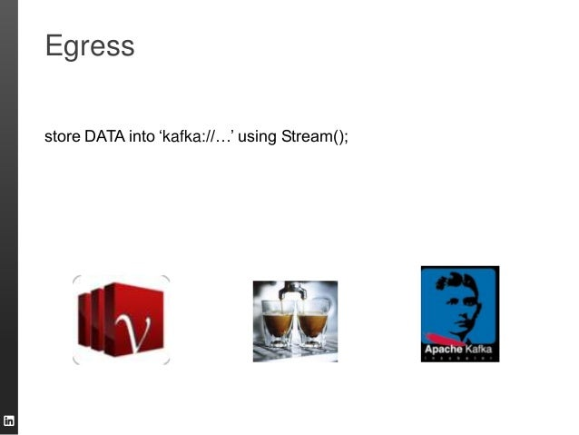 "Egress store DATA into ""kafka://…"" using Stream();"