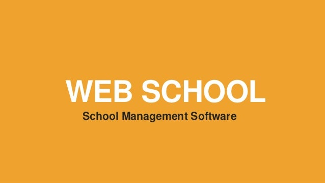 WEB SCHOOL School Management Software