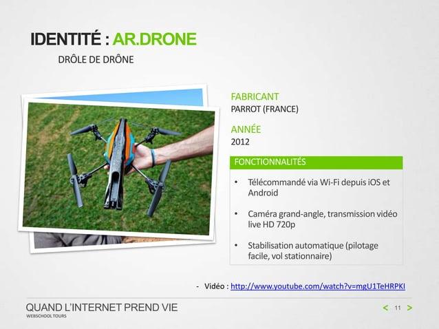 IDENTITÉ : AR.DRONE           DRÔLE DE DRÔNE                                     FABRICANT                                ...