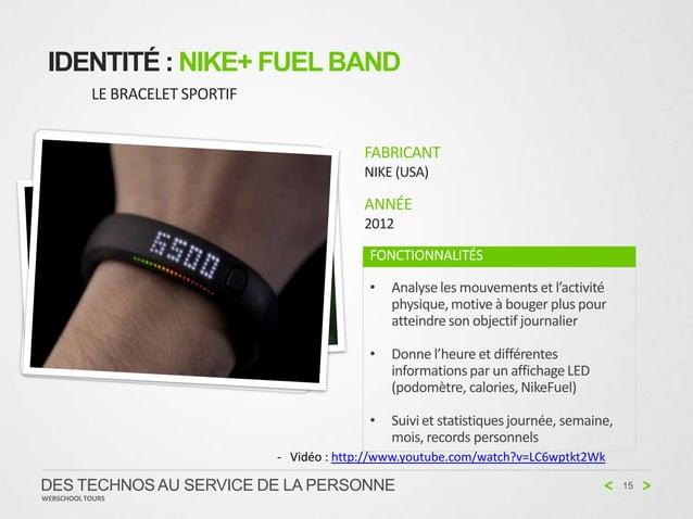 IDENTITÉ : NIKE+ FUEL BAND           LE BRACELET SPORTIF                                              FABRICANT           ...