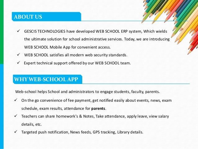 Web School Erp School Management Mobile Application
