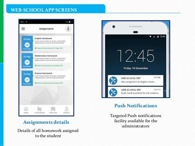 Web Erp School Management Mobile Application