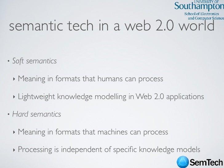 SemTech Survey - Web Science 2009 Conference