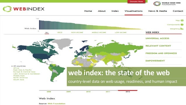 web index: the state of the web country-level data on web usage, readiness, and human impact