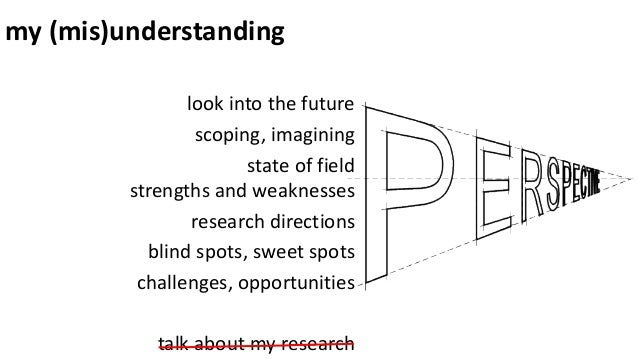 my (mis)understanding look into the future scoping, imagining state of field strengths and weaknesses research directions ...