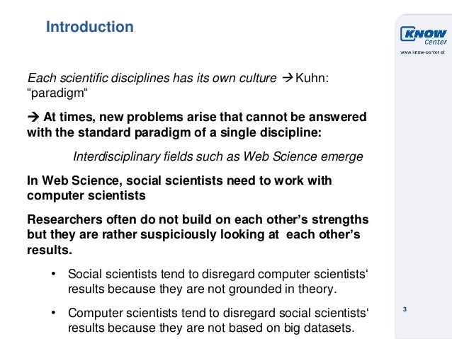 Towards a Model of Interdisciplinary Teamwork: What can Social Theory Contribute Slide 3