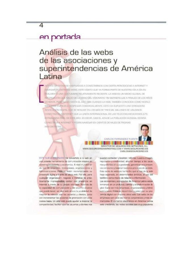Analisis de webs de asociaciones y superintendencias de seguros en America Latina
