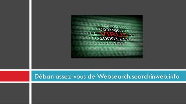 Débarrassez-vous de Websearch.searchinweb.info
