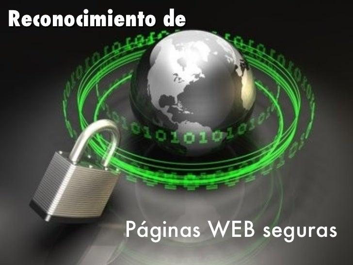 Reconocimiento de Páginas WEB seguras
