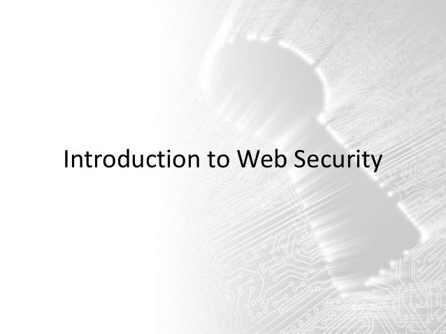 Introduction to Web Security