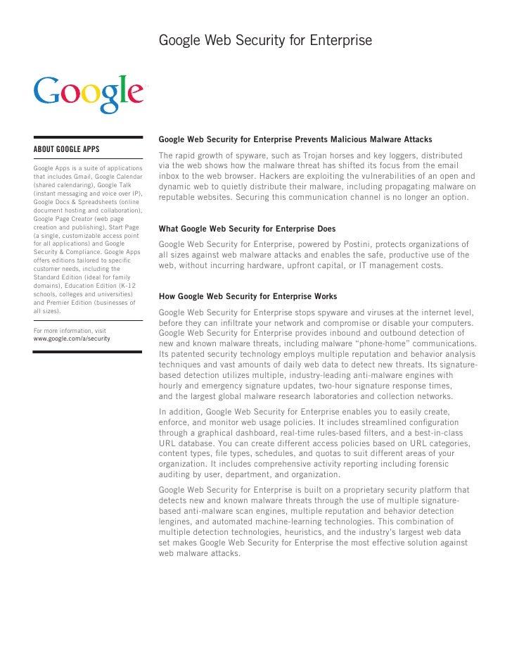 Google Web Security for Enterprise                                              Google Web Security for Enterprise Prevent...
