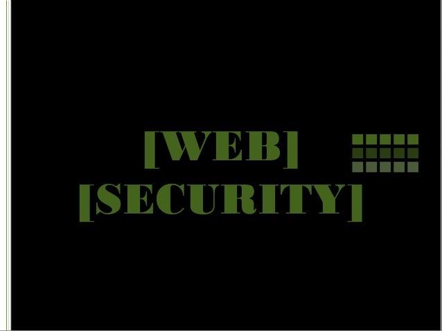 [WEB] [SECURITY]