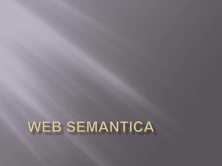 WEB SEMANTICA<br />