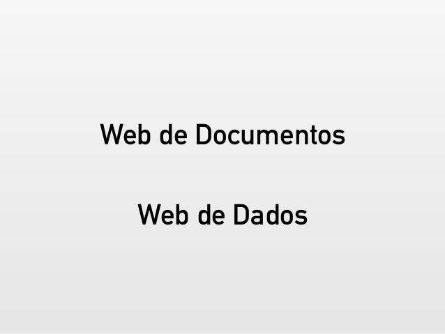 Web Semântica para desenvolvedores: RDFa, JSON-LD e schema.org Slide 3