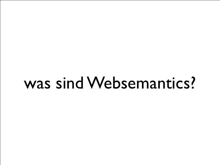 Websemantics Slide 2