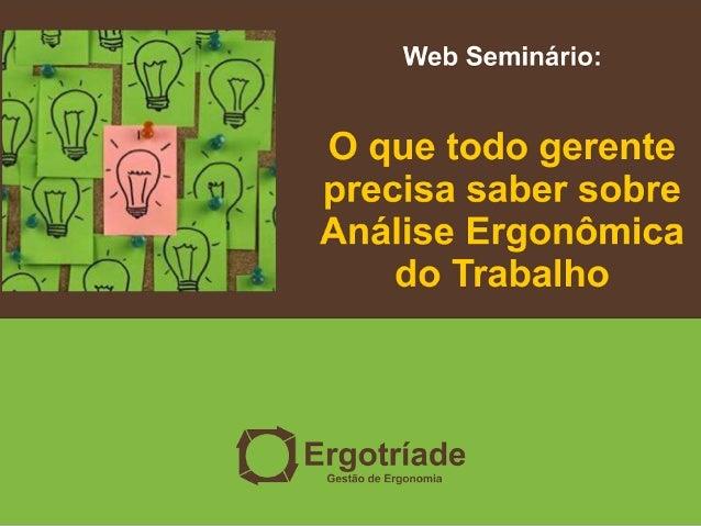 58 Omar Alexandre visite nosso site/blog: www.ergotriade.com.br facebook/ergotriade twitter: @ergotriade e-mail: omar.ergo...