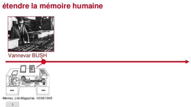 3  étendre la mémoire humaine  VannevarBUSH  Memex, Life Magazine, 10/09/1945