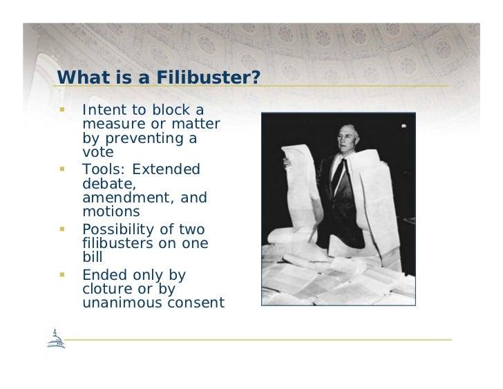 The Senate Filibuster