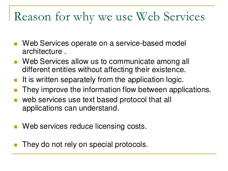 Writing the web service
