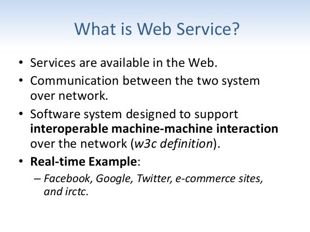 web services - a practical approach