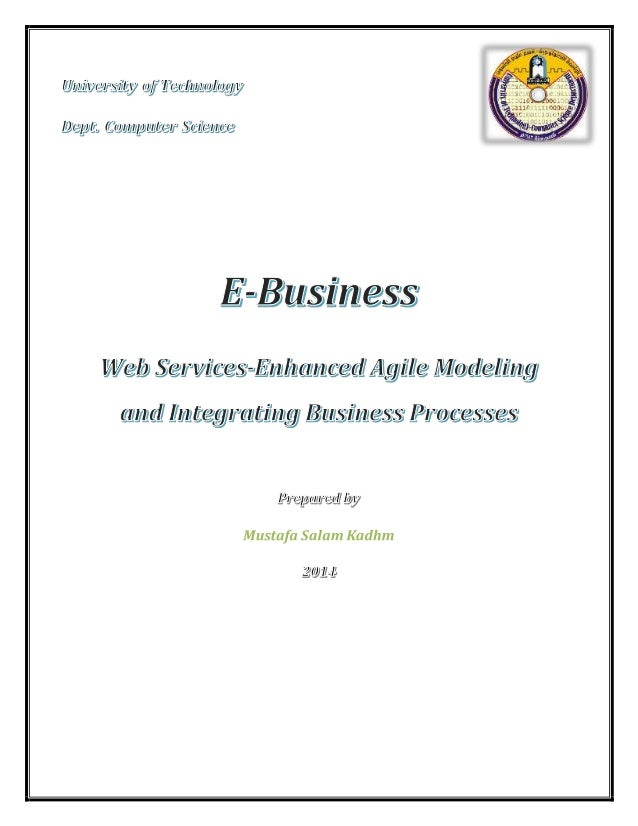 E-Business:WebServices Page | 2 1. Introduction We propose a model-driven approach, based on Web services standards, for m...