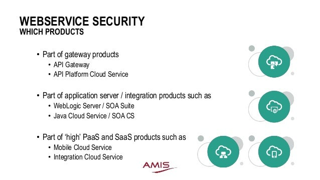 Webservice security considerations and measures