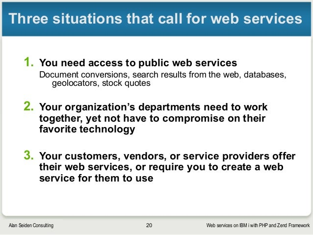 Web services on IBM i with PHP and Zend Framework
