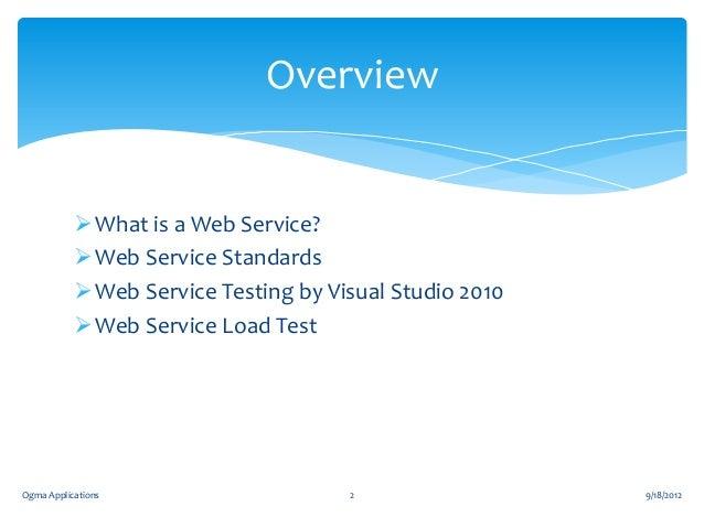 Web Services Testing Slide 2