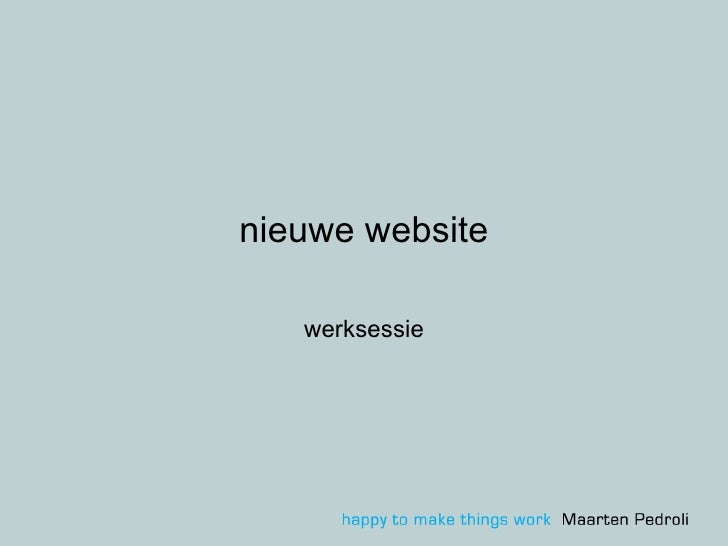 nieuwe website werksessie