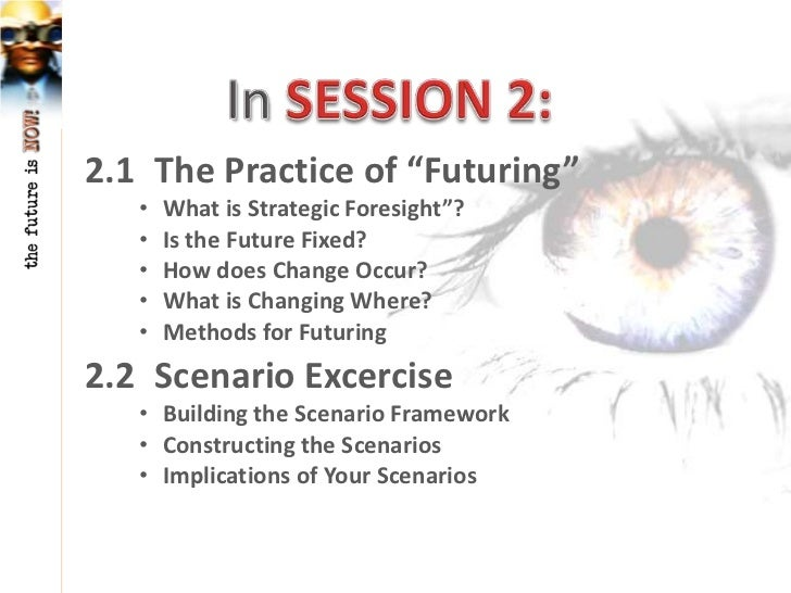 """2.1 The Practice of """"Futuring""""   •   What is Strategic Foresight""""?   •   Is the Future Fixed?   •   How does Change Occur?..."""