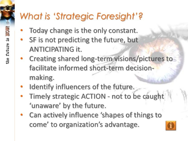 """Is the Future """"Fixed""""?• The future is plural – many possible alternatives.• Can know most plausible futures, cannot tell  ..."""