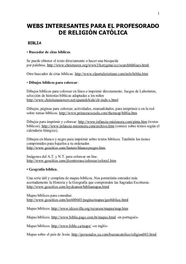 Webs Interesantes Para El Profesorado De Religin Cat Lica 2