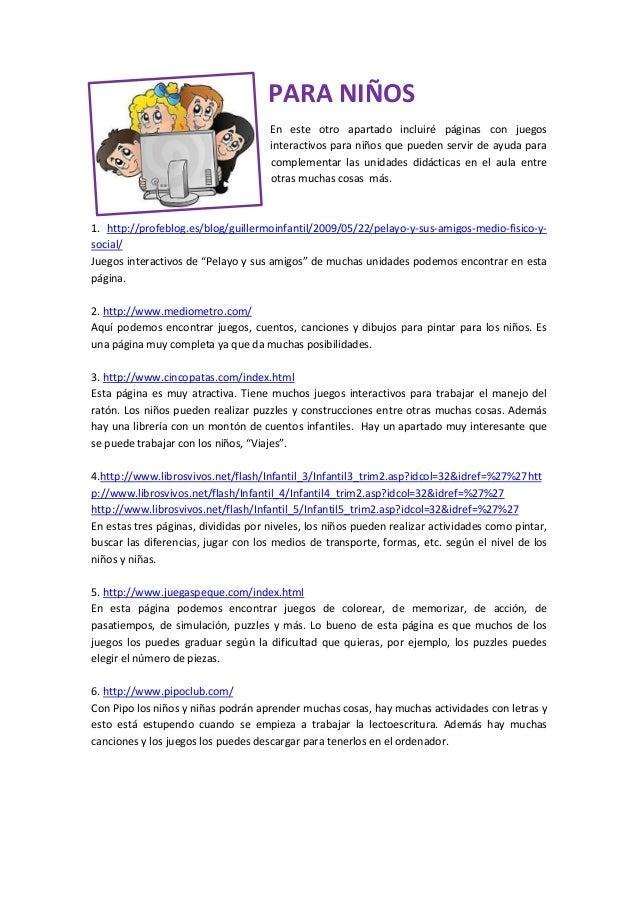 Webs interesantes para la labor docente