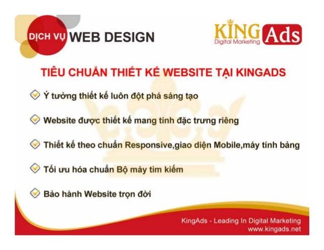 Website thiết kế theo giao diện chuẩn Slide 3