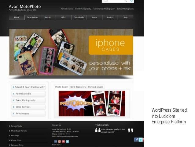WordPress Site tied  into Lucidiom  Enterprise Platform