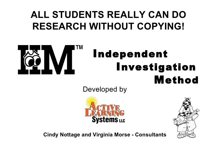 ALL STUDENTS REALLY CAN DO RESEARCH WITHOUT COPYING! <ul><li>Developed by </li></ul><ul><li>Cindy Nottage and Virginia Mor...