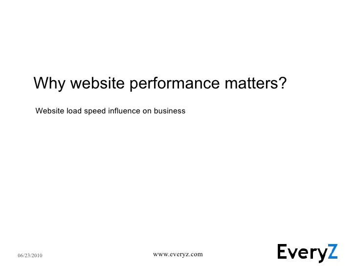 Why website performance matters? Website load speed influence on business