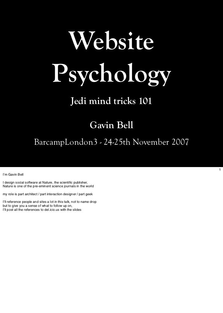 Website                                    Psychology                                                  Jedi mind tricks 10...