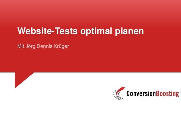 Website-Tests optimal planen Mit Jörg Dennis Krüger