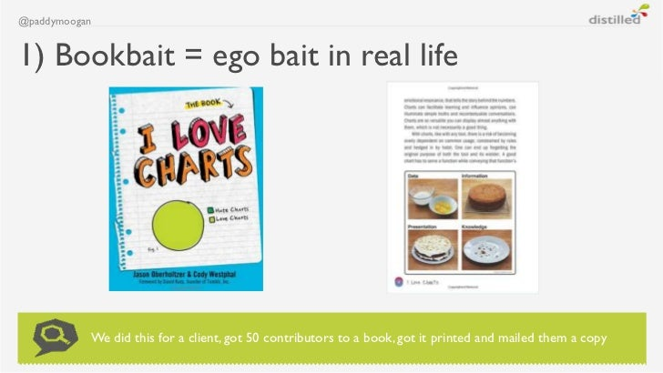@paddymoogan1) Bookbait = ego bait in real life           We did this for a client, got 50 contributors to a book, got it ...