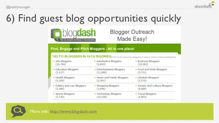 @paddymoogan6) Find guest blog opportunities quickly           More info: http://www.blogdash.com