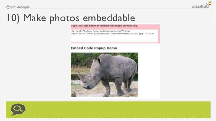 @paddymoogan10) Make photos embeddable