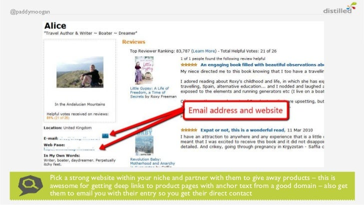 @paddymoogan           Pick a strong website within your niche and partner with them to give away products – this is      ...