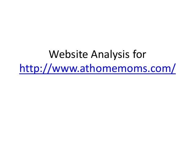 Website Analysis for http://www.athomemoms.com/