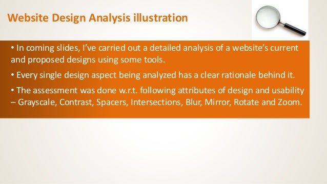 Website analysis basic tools and illustration