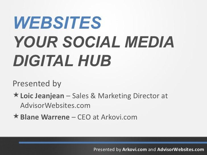 WEBSITESYOUR SOCIAL MEDIADIGITAL HUBPresented by Loic Jeanjean – Sales & Marketing Director at  AdvisorWebsites.com Blan...