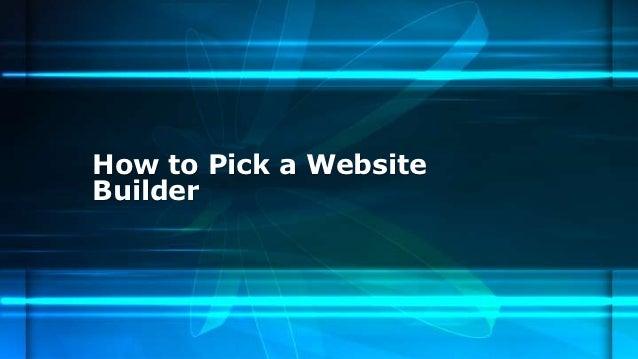 How to Pick a WebsiteBuilder