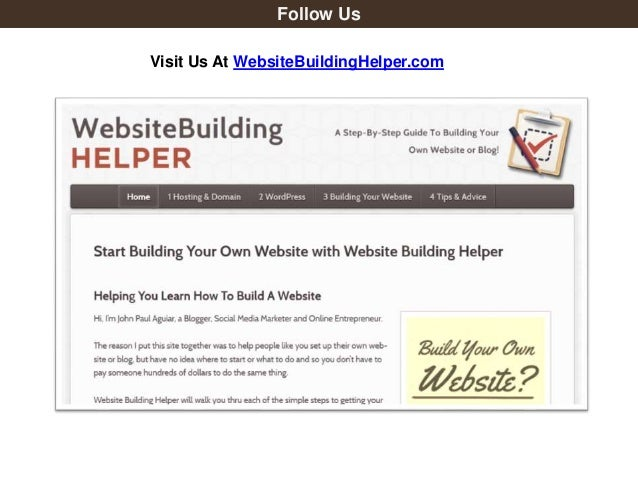 Follow Us Visit Us At Websitebuildinghelper Com