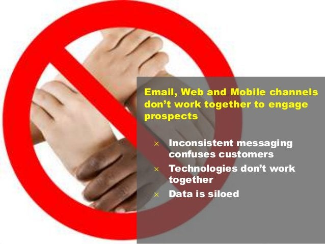 11 Email, Web and Mobile channels don't work together to engage prospects  Inconsistent messaging confuses customers  Te...